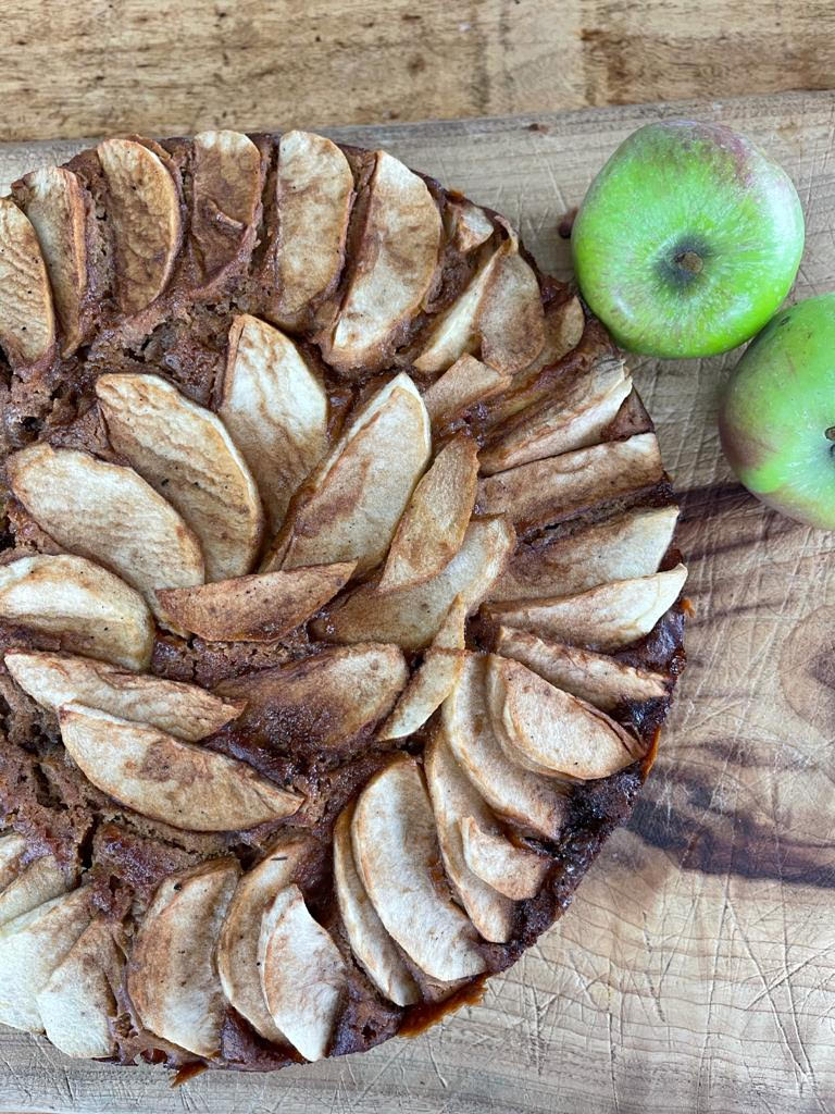 Cooked slices of Apple